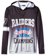 Klew Men's NFL Los Angeles Raiders Super Bowl XVIII Champions Hoody T-Shirt - $19.95