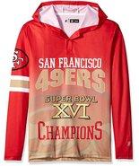 Klew Men's NFL San Francisco 49ers Super Bowl XVI Champions Hoody T-Shirt - $19.95