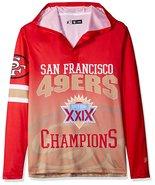 Klew Men's NFL San Francisco 49ers Super Bowl XXIX Champions Hoody T-Shirt - $19.95