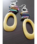 Druzy quartz earrings - $30.00