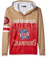 Klew Men's NFL San Francisco 49ers Super Bowl XXIV Champions Hoody T-Shirt - $19.95