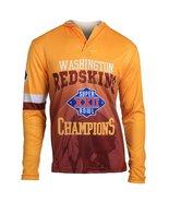 Klew Men's NFL Washington Redskins Super Bowl XXII Champions Hoody T-Shirt - $19.95