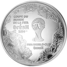 2014 FIFA World Cup Silver Proof Domed Coin - $85.00
