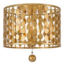 Mid Century Modern Hollywood Regency Flush Mount Ceiling Light Chandelier - $499.00