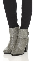 NEW RAG & BONE Grey Crackled Leather Newbury Ankle Boots - MSRP $525.00! - £195.69 GBP