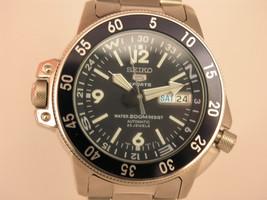 Seiko Mens watches silver tone bracelet blue dial 23 jewels automatic SKZ209K1 - $262.35