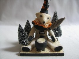 """Halloween Teddy by Vicki Smyer for Bethany Lowe """"conjuring up Teddy"""" cau... - €40,35 EUR"""