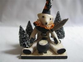"Halloween Teddy by Vicki Smyer for Bethany Lowe ""conjuring up Teddy"" cau... - $49.45"