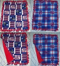 """New York Giants Baby Blanket Fleece Pet Lap Blue Red White 30""""x 24"""" NFL ... - $36.95+"""