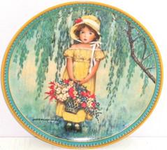 Easter Collector Plate Childhood Holiday Memories Girl Flower Basket Vin... - $59.95