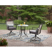 Outdoor Bistro Set Patio Garden Yard Backyard Furniture Steel 3 Piece Cu... - $99.99