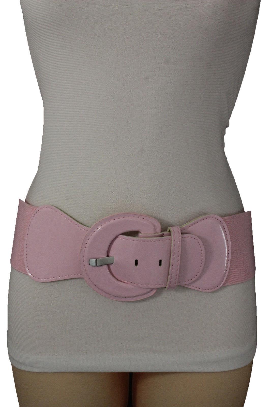 Women Black Fashion Narrow Skinny Belt Hip High Waist Long Gold Key Buckle M L