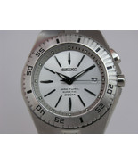 Seiko mens watches arctura kinetic stainless steel bracelet dial SKA255P1 - $366.30