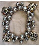 LSU Tiger Head Charm Bracelet Best Silvertone One Size Football - $24.00