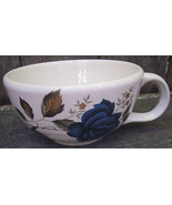 McCoy Handled Soup Bowls White Blue Tan 3 Cups Mixed Lot - $22.00