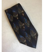 J Garcia Blue Diamond Neck Tie Malachite Valley Collection Seven 100% Silk  - $35.00