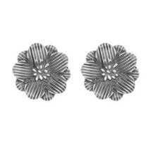 Beautiful Flower Looking Solid Pure 925 Sterling Silver Earring Jewelry - $28.37