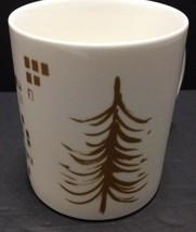 Starbucks Coffee Mug 2014 Holiday Cup White and Gold 12oz Never Used  - $24.74