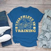Swimming Funny Tee Triathlon Swim Bike Run Triathlete Tri Training Unisex - $15.99+