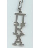 Phi Kappa Alpha Silver Necklace Unisex Large - $24.00