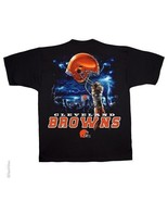 CLEVELAND BROWNS New with tags SKY HELMET T-Shirt BLACK shirt NFL LICENSED - $21.99+