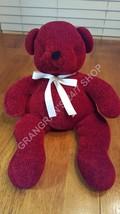 "Pottery Barn Teddy Bear cuddly soft knit, stitched eyes & mouth 16"" sits... - $4.99"