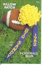Pillow Patch Football Mum Crochet Pattern~Annie's~NEW~1982 - $8.99