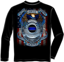 New Law Enforcement Fallen Officers Long Sleeve T-SHIRT Police Dept Shirt - $24.95