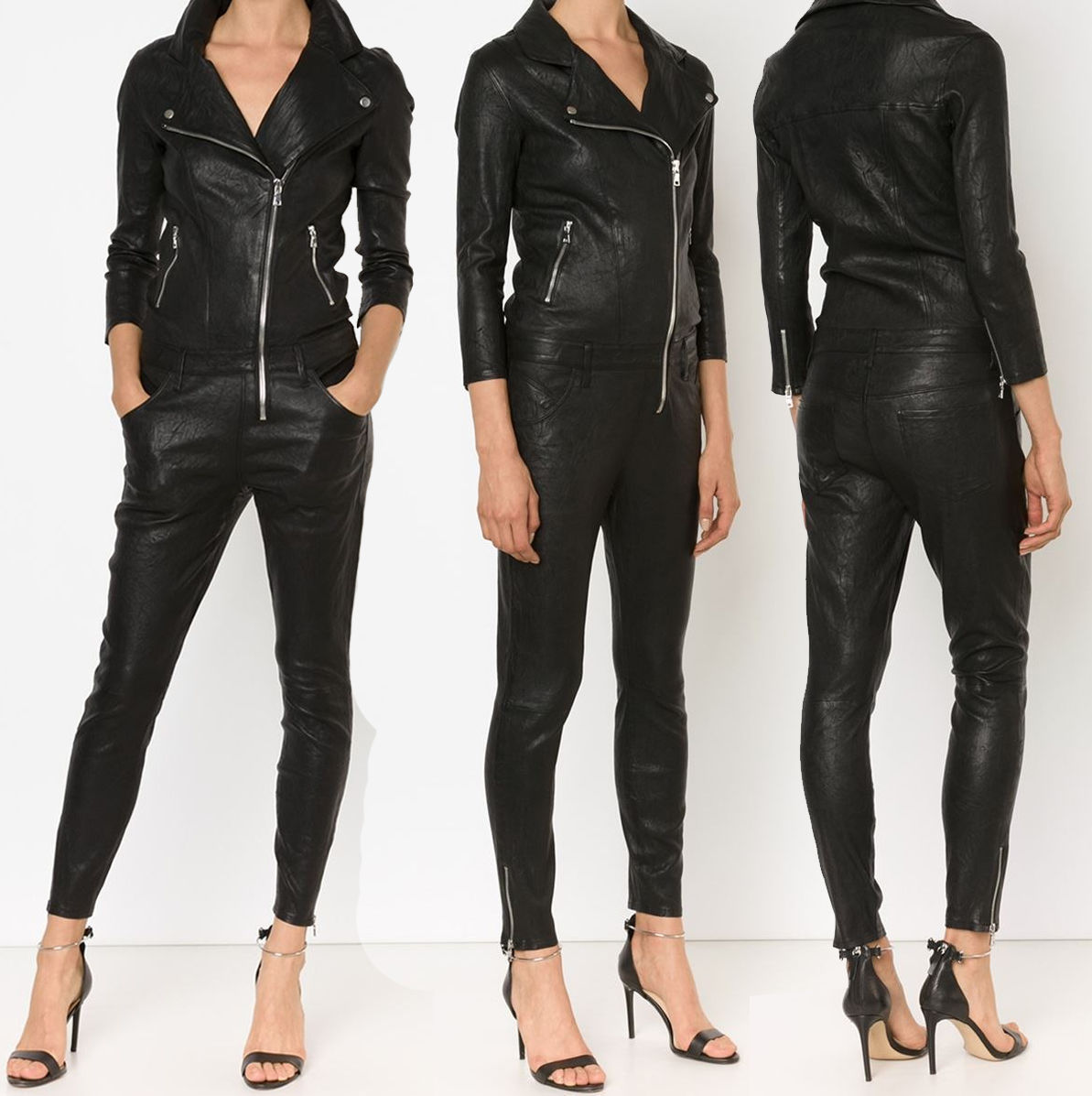 WOMEN LEATHER JUMPSUIT ROMPERS GENUINE LAMBSKIN REAL LEATHER JUMPSUIT-01