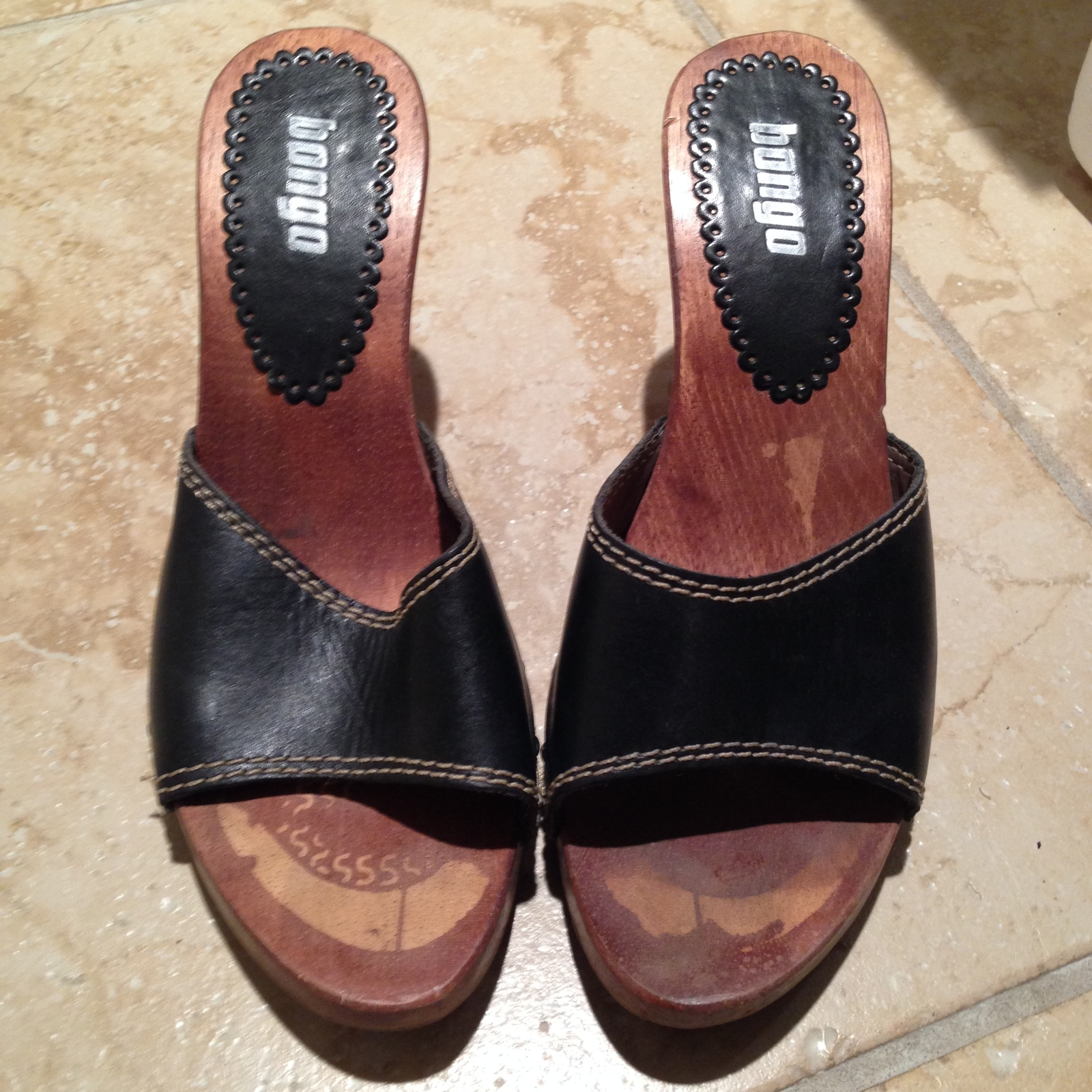 349a18b8ffc Image. Image. Previous. womens high heel leather upper black shoes size 8  by Bongo Beautiful