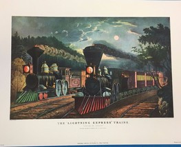 CURRIER & IVES Portfolio of 8 nostalgic color prints (1946) I.B. Fischer... - $14.84