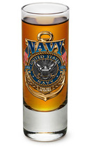 US NAVY- TRIBUTE- NEW-  2 OZ. SHOT GLASS   - $17.81+