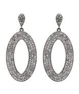 Huge Hoop 925 Sterling Silver Earrring With White CZ Party Wear Earring - $48.90