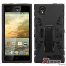 XM-Black Symbiosis Stand Case Cover For ZTE Warp Elite(N9518) - $9.01
