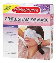 MegRhythm Gentle Steam Eye Mask, Lavender, 7 Count - $12.64