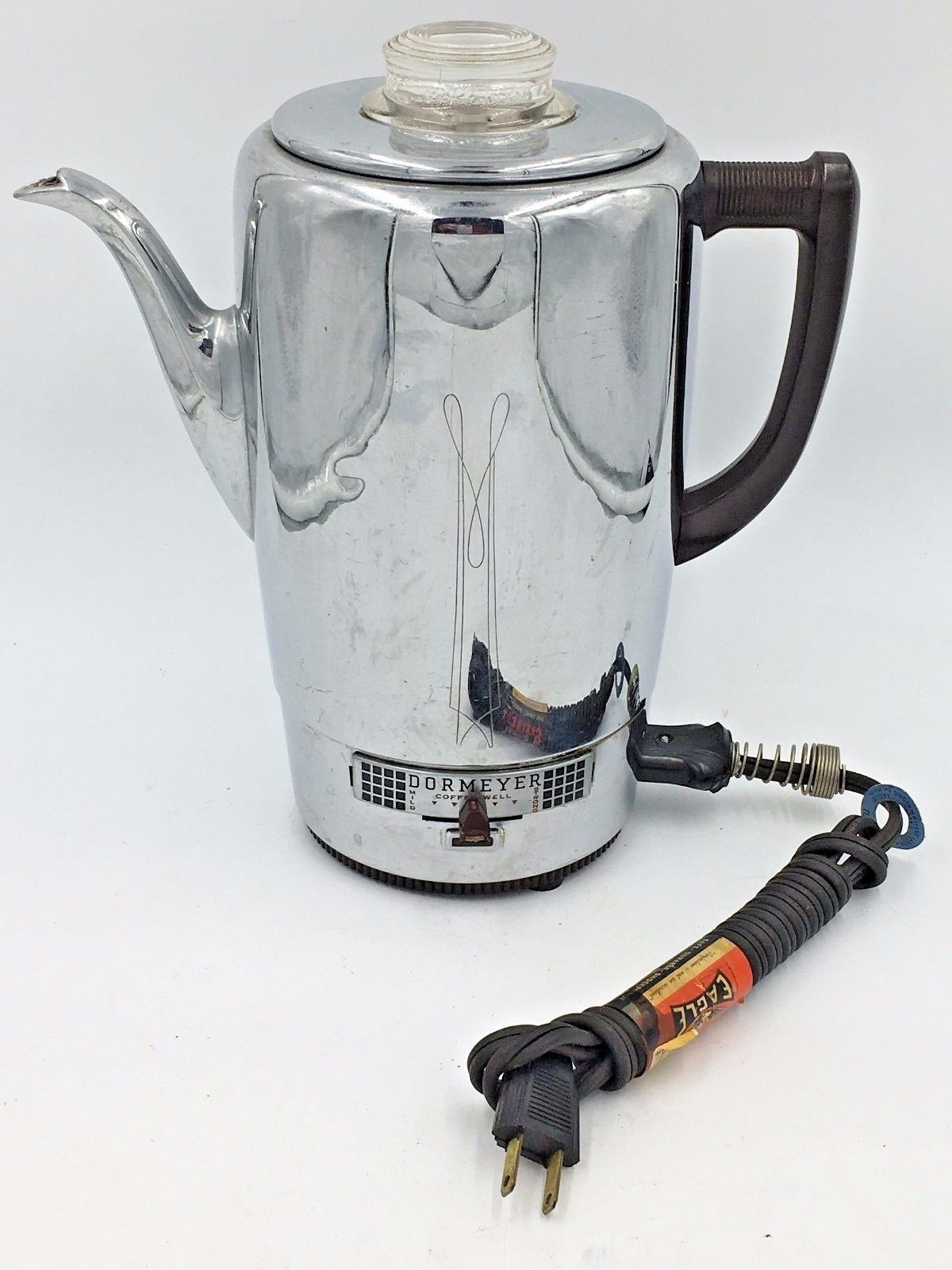 Coffee Maker Did Electrical : Vintage Dormeyer Chrome Electric Coffee Maker Pot Percolator Model 6800 Works - Coffee Makers