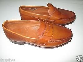 Allen Edmonds Cavanaugh Rich Leather Penny Loafer Men' Shoes Walnut 8.5W 9E $275 - $120.00