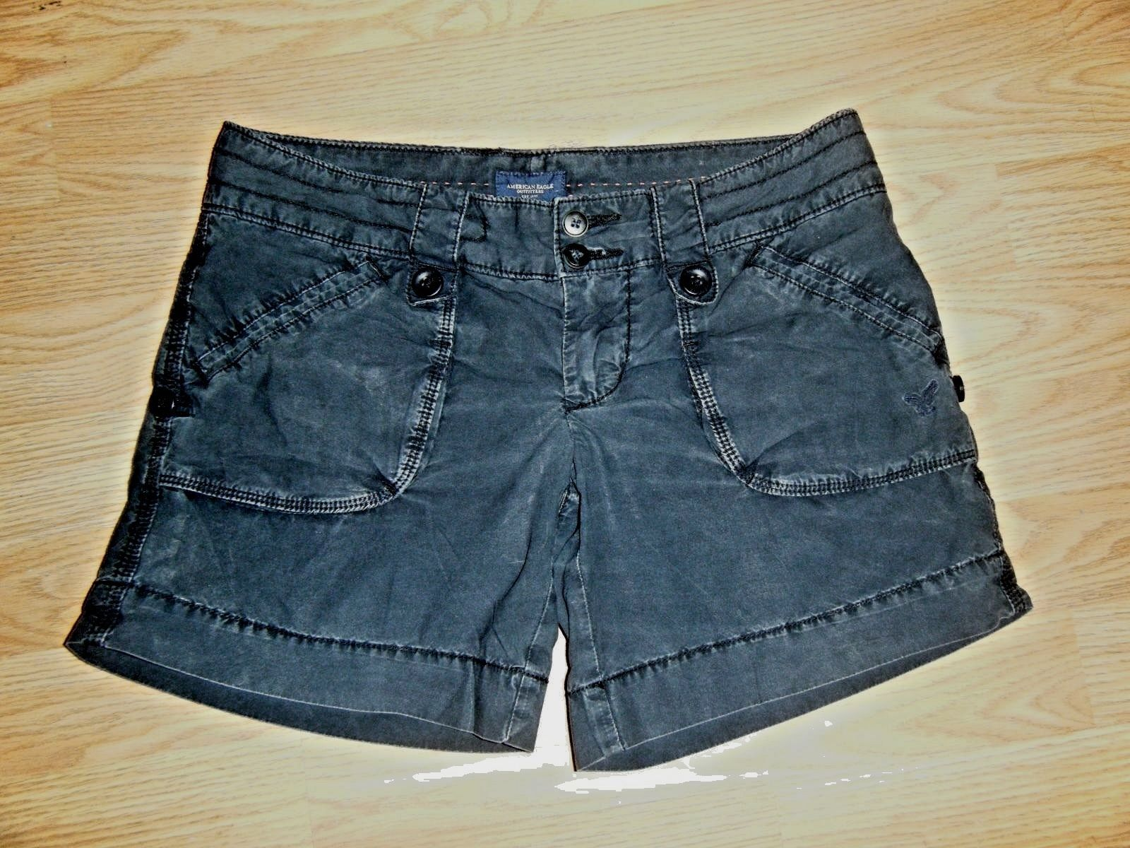 Primary image for AMERICAN EAGLE OUTFITTERS NAVY COTTON SHORTS SIZE 0
