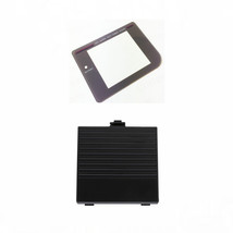 New BLACK Nintendo Game Boy Original DMG-01 Battery Cover + New Screen Lens Door - $9.02