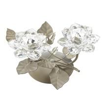Crystal Flower crystalline flowers   Centerpiece Candleholder - $31.77