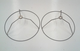 Vintage Hanging Accent Lamp Shade Frames, 9 Diameter x 3.5H-A Pair - $19.95