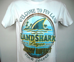 Mens Jimmy Buffett Tour 2011-12 T Shirt Welcome to Fin Land small Landshark - $21.73