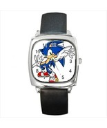 Sonic The Hedgehog Round & Square Leather Strap Watch - $11.99