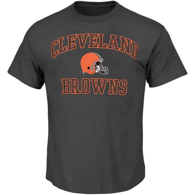 Cleveland Browns Shirt Big Men's NFL Heart & Soul Tee Football Granite T-Shirt