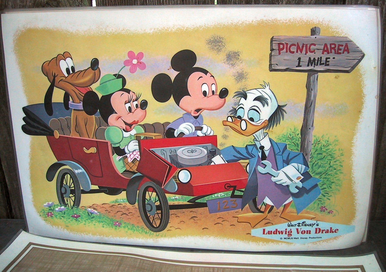 RARE Set 6 Original Vintage Walt Disney Pinocchio /& Jiminy Cricket PLACEMATS