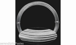 Anodized ALUMINUM CRAFT WIRE 14ga round SILVER 45 ft Coil ~ Flexible Wra... - $8.21