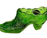 82454a kanawha green glass floral rose slipper shoe collectible figurine with tag thumb155 crop