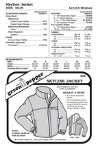 Adult's Skyline Jacket Coat Outerwear #506 Sewing Pattern (Pattern Only) - $8.00