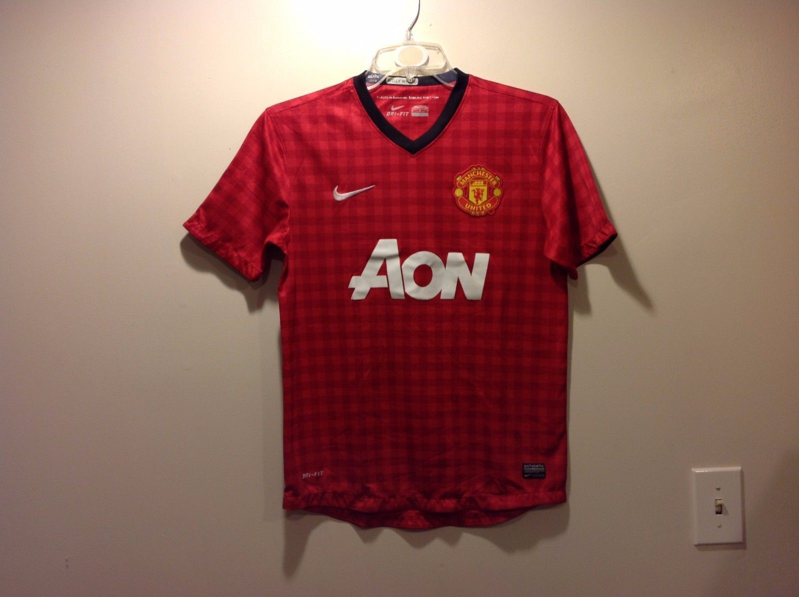 DRI FIT Manchester United Custom Made Jersey Sz Medium
