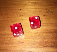 Bakelight GAMBLING RED Lucky Dice ~ Spell Charmed - $47.00